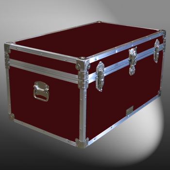 07-091 RE MAROON 33 Deep Storage Trunk with Alloy Trim