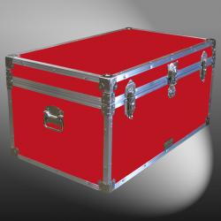 07-090 RE RED 33 Deep Storage Trunk with Alloy Trim