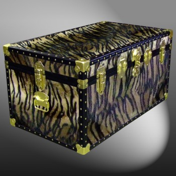 07-189 TI FAUX TIGER 33 Deep Storage Trunk with ABS Trim