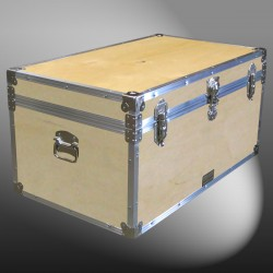 07-076 WE WOOD 33 Deep Storage Trunk with Alloy Trim
