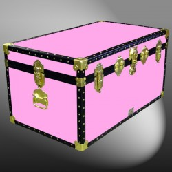 07-155 WOOD WASH PINK 33 Deep Storage Trunk with ABS Trim