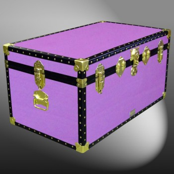 07-153 WOOD WASH PURPLE 33 Deep Storage Trunk with ABS Trim