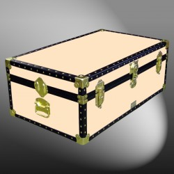 09-175 CL CHAMPAGNE LEATHERETTE 30 Cabin Storage Trunk with ABS Trim