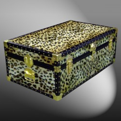 09-179 CH FAUX CHEETAH 30 Cabin Storage Trunk with ABS Trim