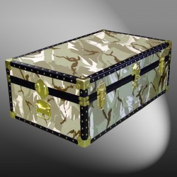 09-143 DS DESERT STORM CAMO 30 Cabin Storage Trunk with ABS Trim