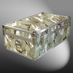 08-146 DSE DESERT STORM CAMO 33 Cabin Storage Trunk with Alloy Trim