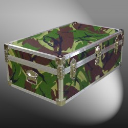 08-142 JCE JUNGLE CAMO 33 Cabin Storage Trunk with Alloy Trim
