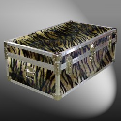 09-184 TIE FAUX TIGER 30 Cabin Storage Trunk with Alloy Trim