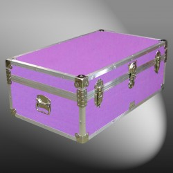 09-150 E WOOD WASH PURPLE 30 Cabin Storage Trunk with Alloy Trim