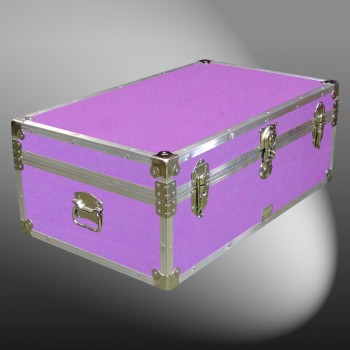 08-152 E WOOD WASH PURPLE 33 Cabin Storage Trunk with Alloy Trim