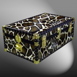 08-183 G FAUX GIRAFFE 33 Cabin Storage Trunk with ABS Trim