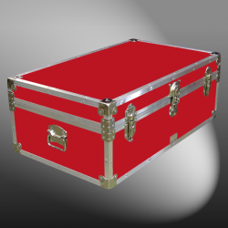 09-088 RE RED 30 Cabin Storage Trunk with Alloy Trim