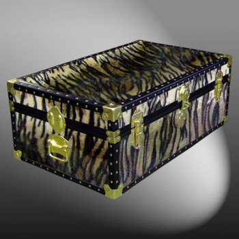 08-185 TI FAUX TIGER 33 Cabin Storage Trunk with ABS Trim