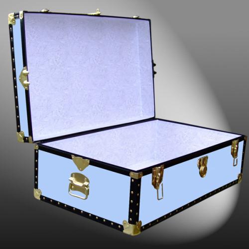 08 149 WOOD WASH BLUE 33 Cabin Storage Trunk With ABS Trim