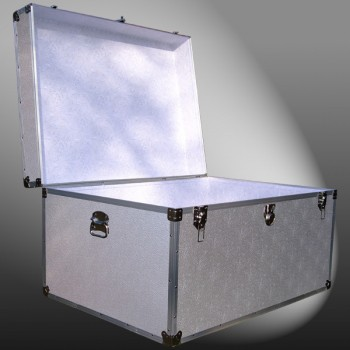 02-129 AE ALLOY Jumbo Storage Trunk with Alloy Trim